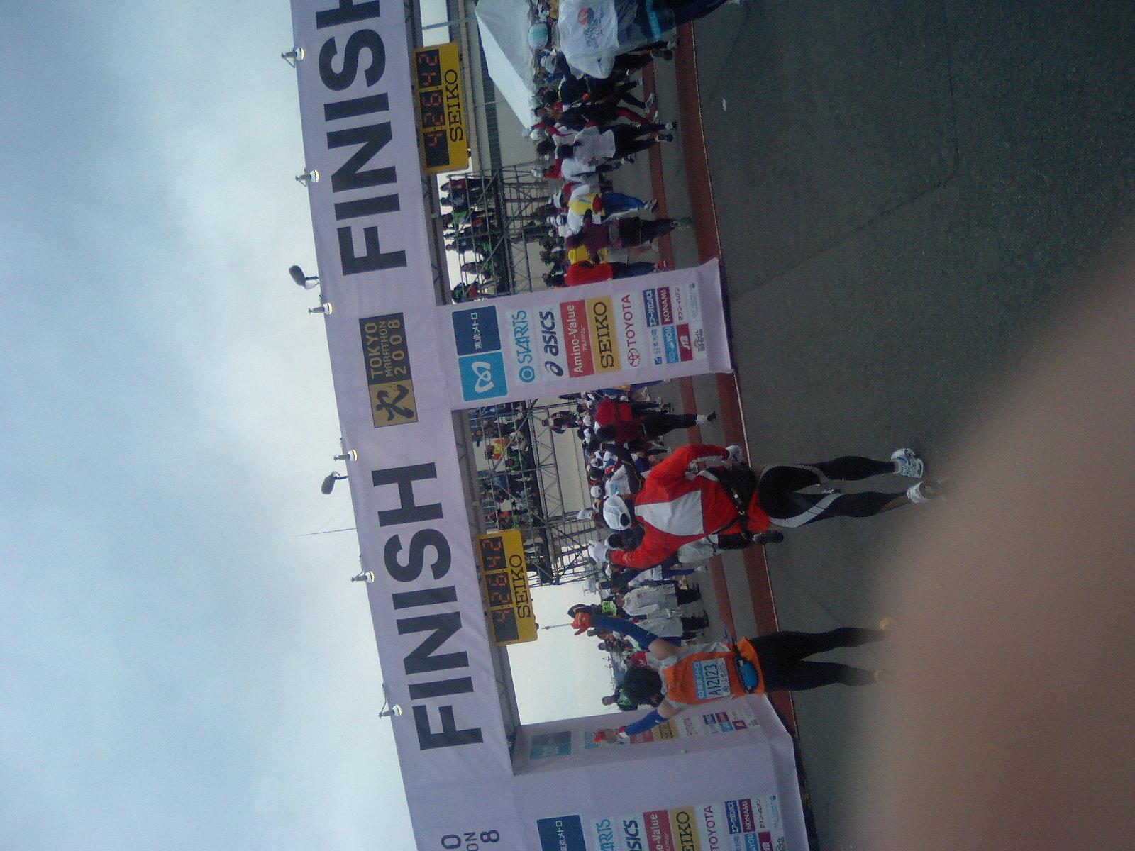 東京マラソン参加中